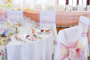 wedding table settings with decoration